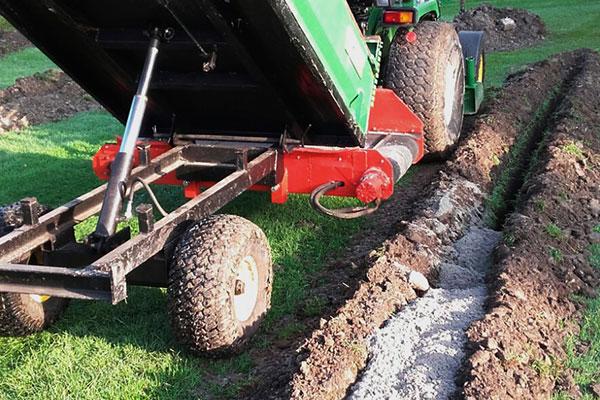 jtg werkzaamheden drainage sleuf vullen