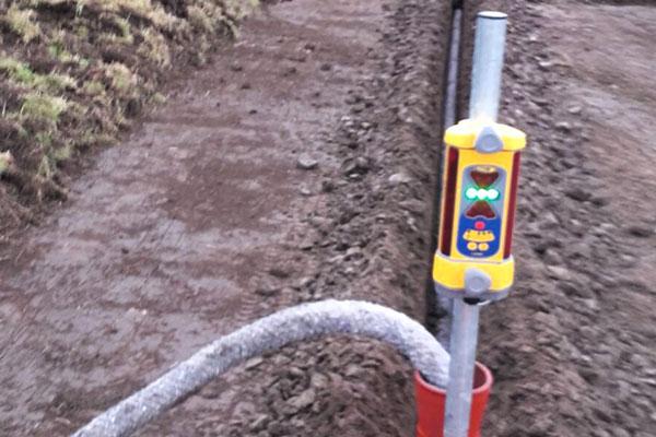 jtg werkzaamheden drainage diepte meter