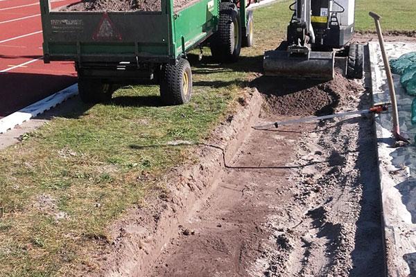 jtg werkzaamheden drainage sportveld